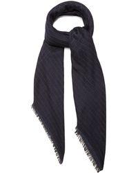 Bottega Veneta - Checked Wool, Silk And Cashmere-blend Scarf - Lyst