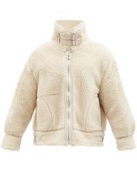 Kuro B3 High-neck Faux-shearling Jacket - Natural