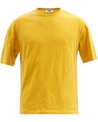 YMC トリプル オーガニックコットン Tシャツ - イエロー