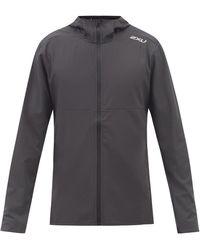 2XU Aero Logo-print Shell Hooded Jacket - Black