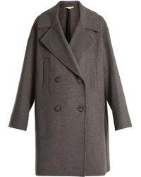 Stella McCartney | Imelda Oversized Double-breasted Wool-blend Coat | Lyst