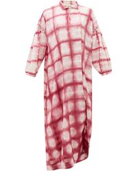 STORY mfg. Robe en coton biologique tie-dye Alea - Rose