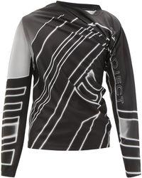 Y. Project ドレープ ロングスリーブtシャツ - ブラック