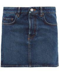 Balenciaga Logo-patch Denim Mini Skirt - Blue