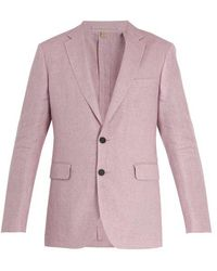 Burberry - Soho Single-breasted Linen Jacket - Lyst