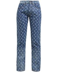 Marine Serre - Crescent Moon Patterned Jeans - Lyst