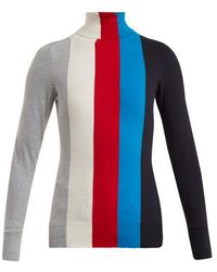 JoosTricot - Roll-neck Striped Cotton-blend Sweater - Lyst
