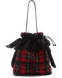 Simone Rocha - Embellished Wool Tartan Shoulder Bag - Lyst