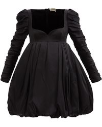 Khaite カティア バブルサテンミニドレス - ブラック