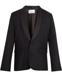 Raey Satin Lapel Wool Tuxedo Jacket - Black