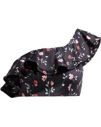 5942e6ed6 Jackson Floral Print One Shoulder Bikini Top - Black