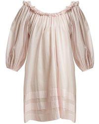 5dd532a32b Three Graces London - Esther Balloon Sleeved Cotton Nightdress - Lyst