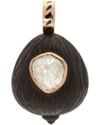 Dezso by Sara Beltran Coquito Polki, 18kt Rose Gold & Wood Charm - Metallic