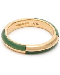 Marc Alary - - Deco 18kt Gold & Chrysoprase Ring - Womens - Yellow Gold - Lyst