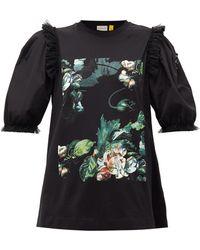 4 MONCLER SIMONE ROCHA フローラル コットンtシャツ - マルチカラー