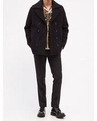 Dolce & Gabbana ウールブレンド ダブルピーコート - ブラック