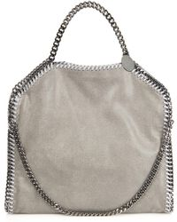 Stella McCartney - Falabella Small Faux-suede Shoulder Bag - Lyst