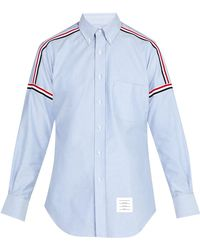 Thom Browne - Button-down Woven Cotton Shirt - Lyst