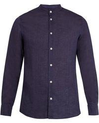 Frescobol Carioca - Granddad-collar Linen Shirt - Lyst