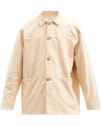 Toogood The Farrier Quilted-appliqué Cotton-twill Jacket - Orange