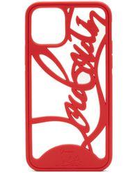 Christian Louboutin Louboutin Logo Cutout Pvc Iphone 11 Pro Case - Red