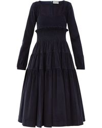 Molly Goddard - Marley Tiered Cotton-blend Corduroy Dress - Lyst