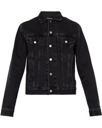 Balenciaga Washed Denim Jacket - Black