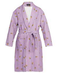 Undercover - - Spaceman Print Cotton Coat - Mens - Purple - Lyst