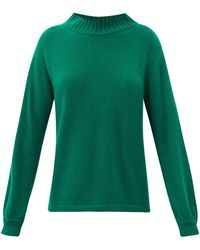 The Elder Statesman High-neck Cashmere Sweater - Green
