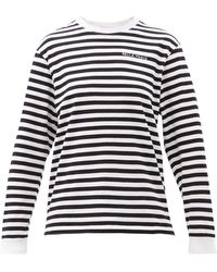 Bella Freud ボーダー オーガニックコットン ロングスリーブtシャツ - マルチカラー
