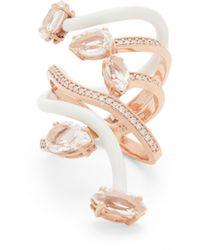 Bea Bongiasca ヴァイン ダイヤモンド&トパーズ 9kローズゴールドカクテルリング - マルチカラー