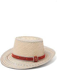 Yosuzi - Juan Striped Straw Hat - Lyst