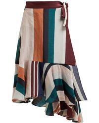 Apiece Apart - Rosita High Rise Linen And Silk Blend Wrap Skirt - Lyst