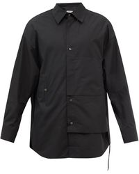 WOOYOUNGMI オーバーサイズ コットンポプリンシャツ - ブラック