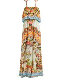 Camilla - Woman Slice Of Paradise Crystal-embellished Printed Gauze Maxi Dress Multicolour - Lyst