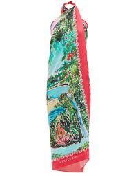 Hester Bly The Aimata Bora Bora-print Silk Dress - Multicolour