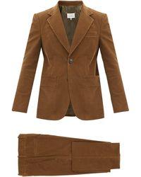 Maison Margiela コットンコーデュロイ シングルスーツ - ブラウン