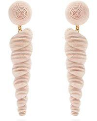 Rebecca de Ravenel - Twisty Large Drop Earrings - Lyst