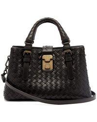 Bottega Veneta - Roma Mini Intrecciato Leather Tote - Lyst
