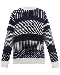 E. Tautz - Jacquard Striped Wool Sweater - Lyst