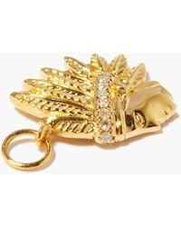 Jacquie Aiche チーフ ダイヤモンド 14kゴールドチャーム - メタリック