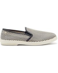 Rivieras Mods Woven-canvas Loafers - Blue