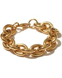 Fallon Alexandria Rolo-chain Gold-plated Bracelet - Metallic