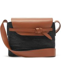 Cesta Collective Lady Sisal And Leather Basket Bag - Multicolour