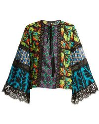 Andrew Gn - Multi-print Silk-blend Georgette Blouse - Lyst