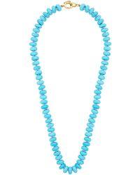 Irene Neuwirth キャンディ ターコイズ 18kゴールドネックレス - ブルー