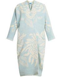 Marit Ilison - Reversible Floral Jacquard Cotton Chenille Coat - Lyst