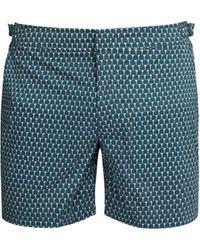 Orlebar Brown Bulldog Sport Mid Length Swim Shorts - Blue