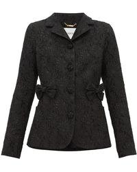 Erdem Benjamin Floral-jacquard Jacket - Black