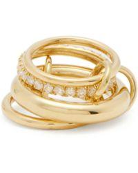 Spinelli Kilcollin - Luna 18kt Gold & Diamond Ring - Lyst